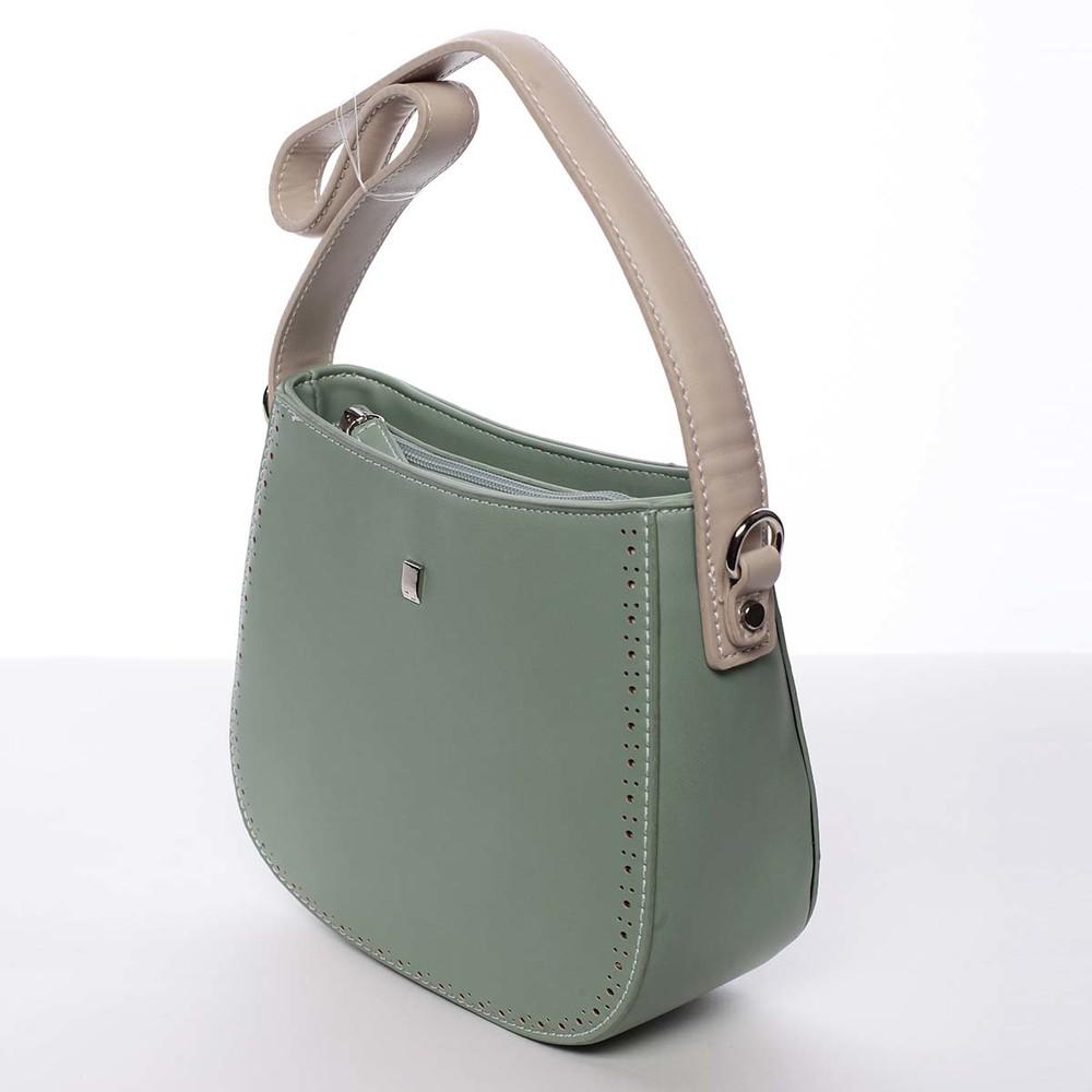 ac3ee83fd9 ... Elegantná listová crossbody kabelka zelená - David Jones Brigitte ...
