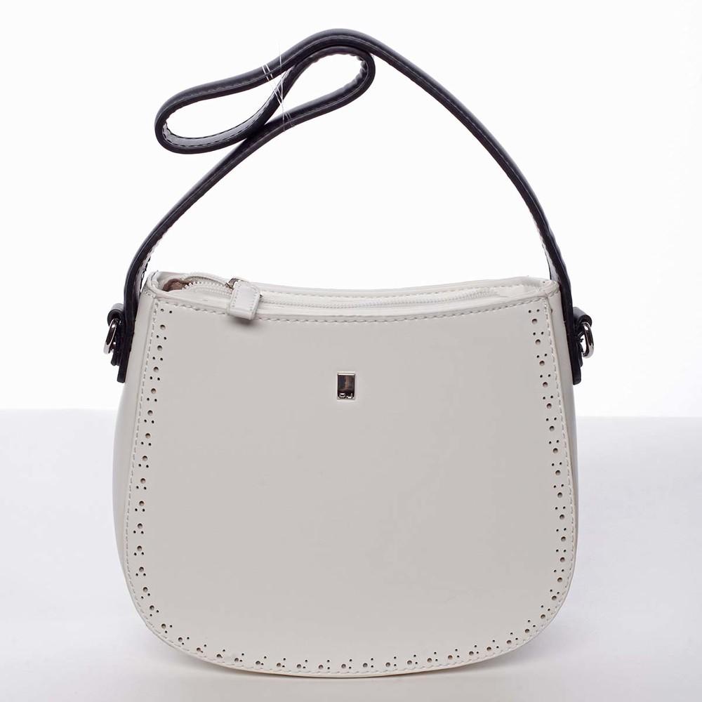 6e269e8929 Elegantná listová crossbody kabelka biela - David Jones Brigitte ...