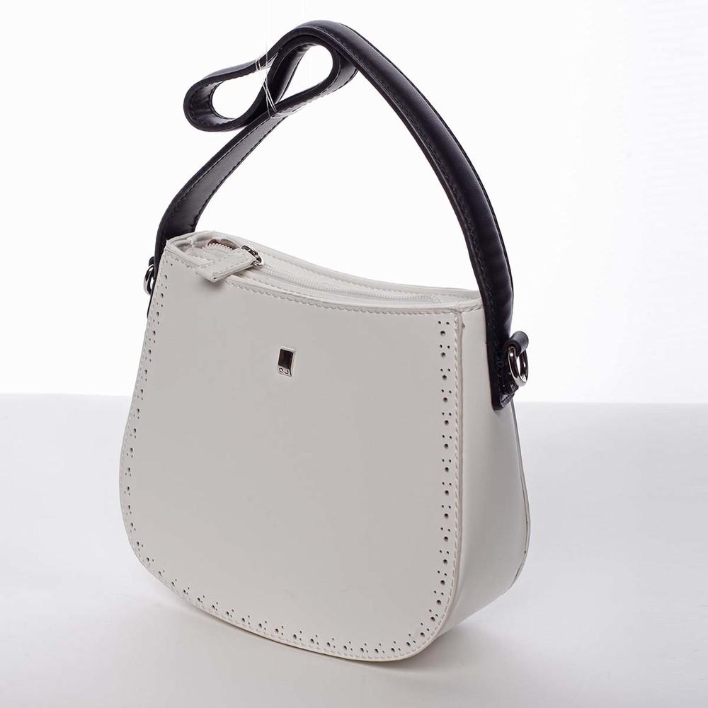 bb6ebc6c30 ... Elegantná listová crossbody kabelka biela - David Jones Brigitte ...