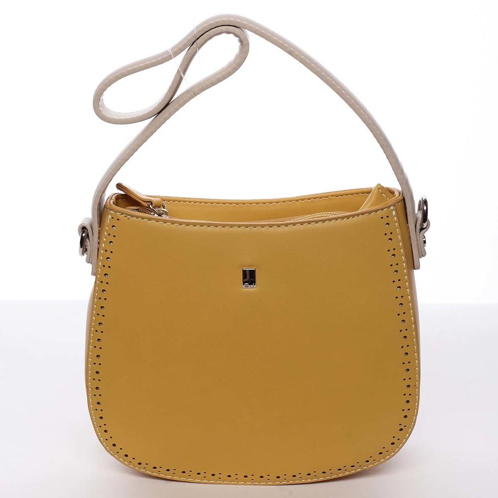 89a680d097 Elegantná listová crossbody kabelka slnečná žltá - David Jones Brigitte ...