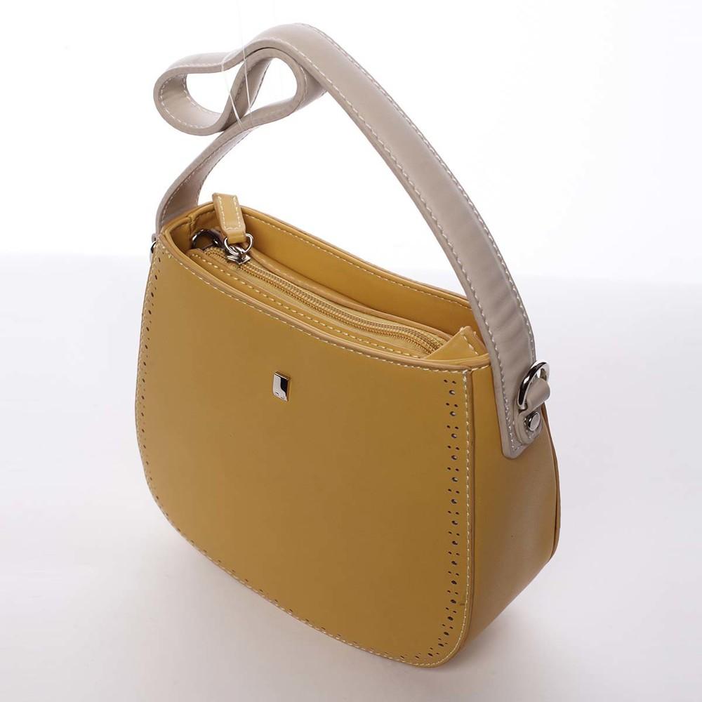 1cb731e1bf ... Elegantná listová crossbody kabelka slnečná žltá - David Jones Brigitte  ...