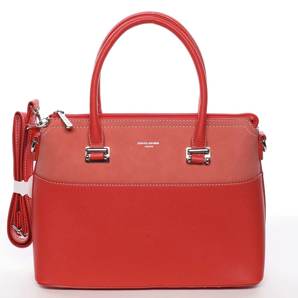cc9a9149b2 Dámska elegantná červená kabelka do ruky - David Jones Geraldine ...