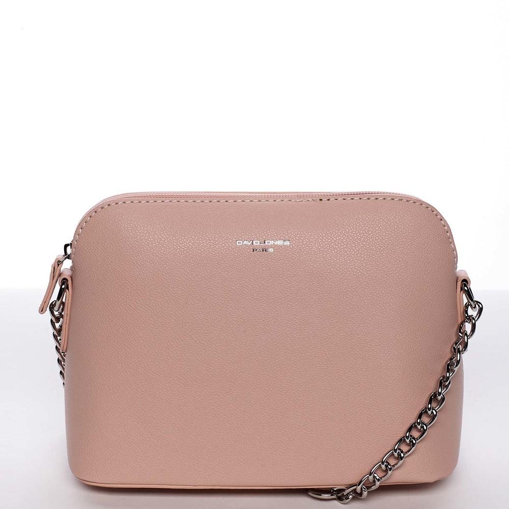 a7d21566d251 Osobitá a elegantná dámska ružová crossbody kabelka - David Jones Milagros  ...