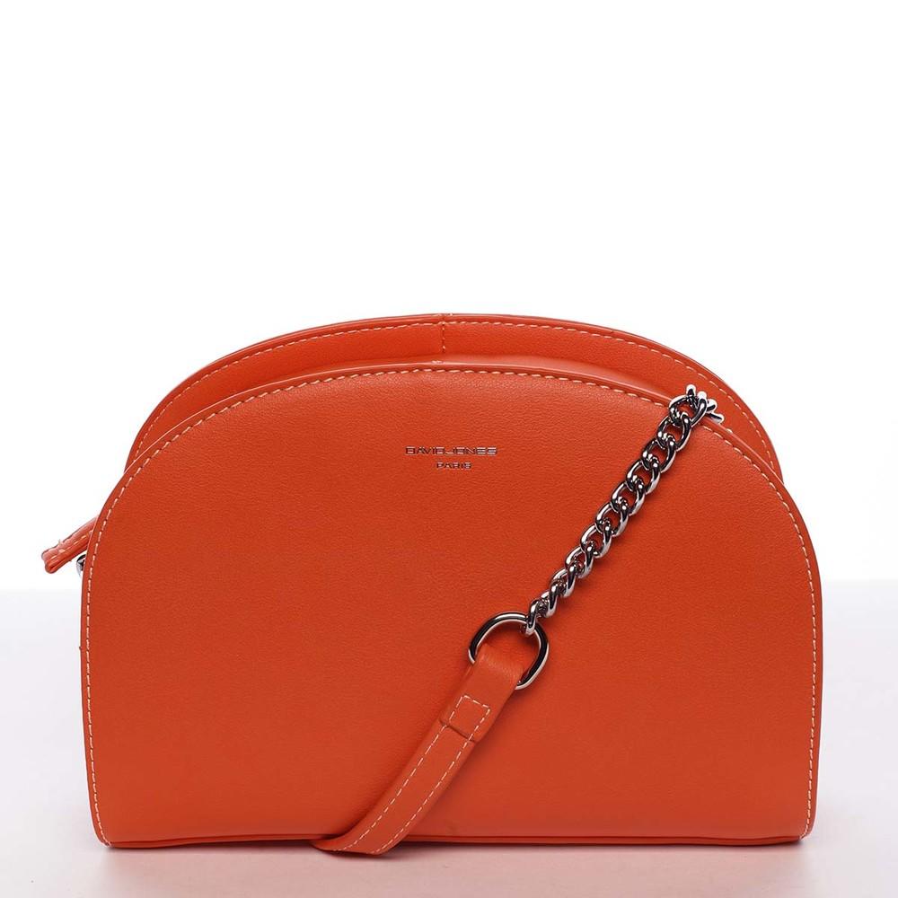 50a863845e Módna oblá dámska crossbody oranžová kabelka - David Jones Anny ...
