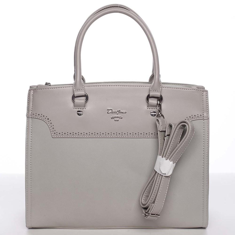 b5307ab937d9 Dámska luxusná ľahko perforovaná sivá kabelka - David Jones Dapphnei ...