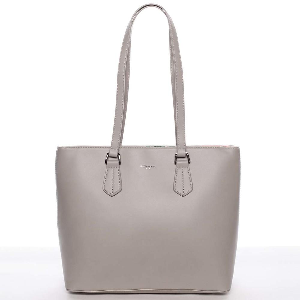 Veľká elegantná hladká dámska sivá kabelka - David Jones Emely ... dc5fdd6050d