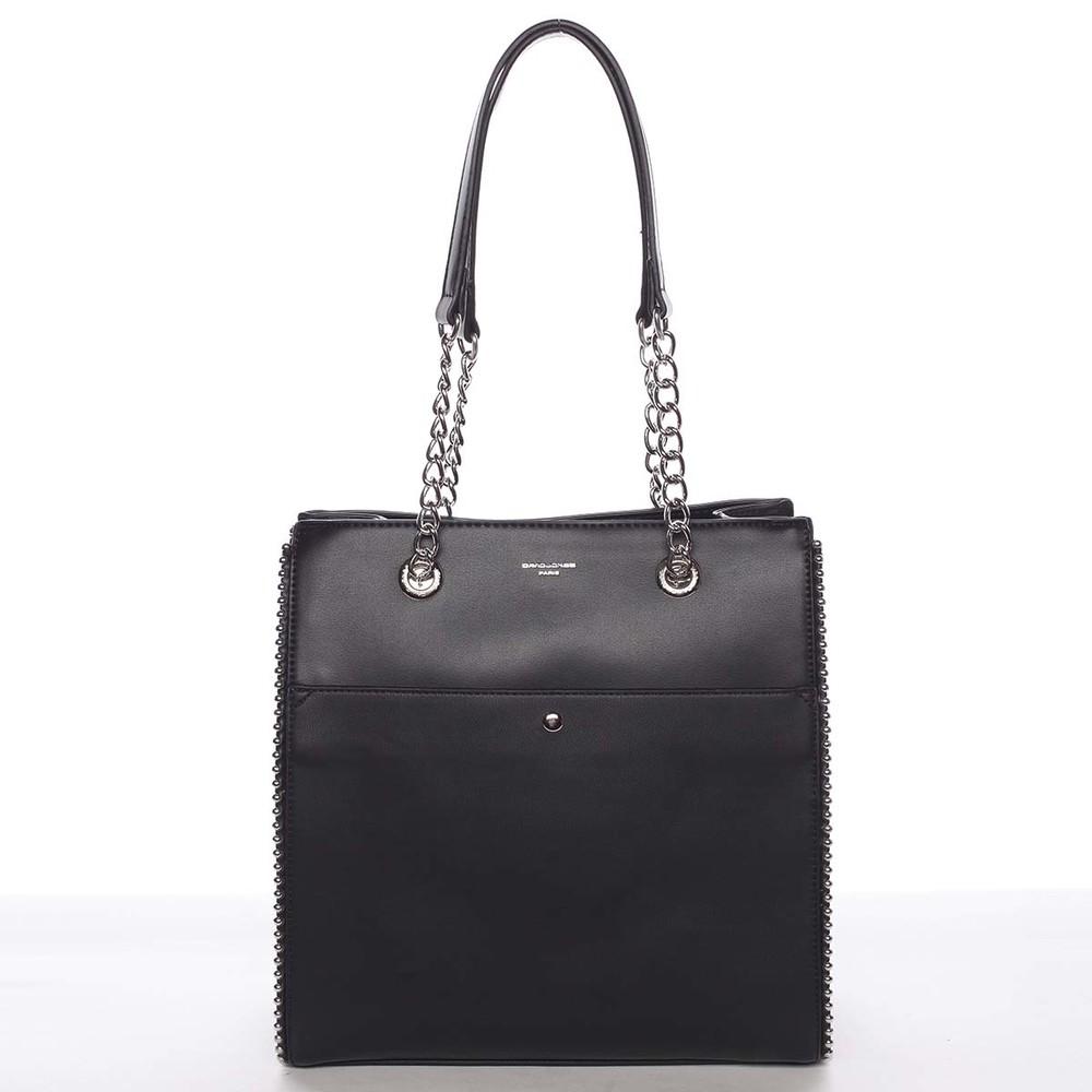 924667e5ba Luxusná a originálna dámska čierna kabelka cez rameno - David Jones Mishel  ...
