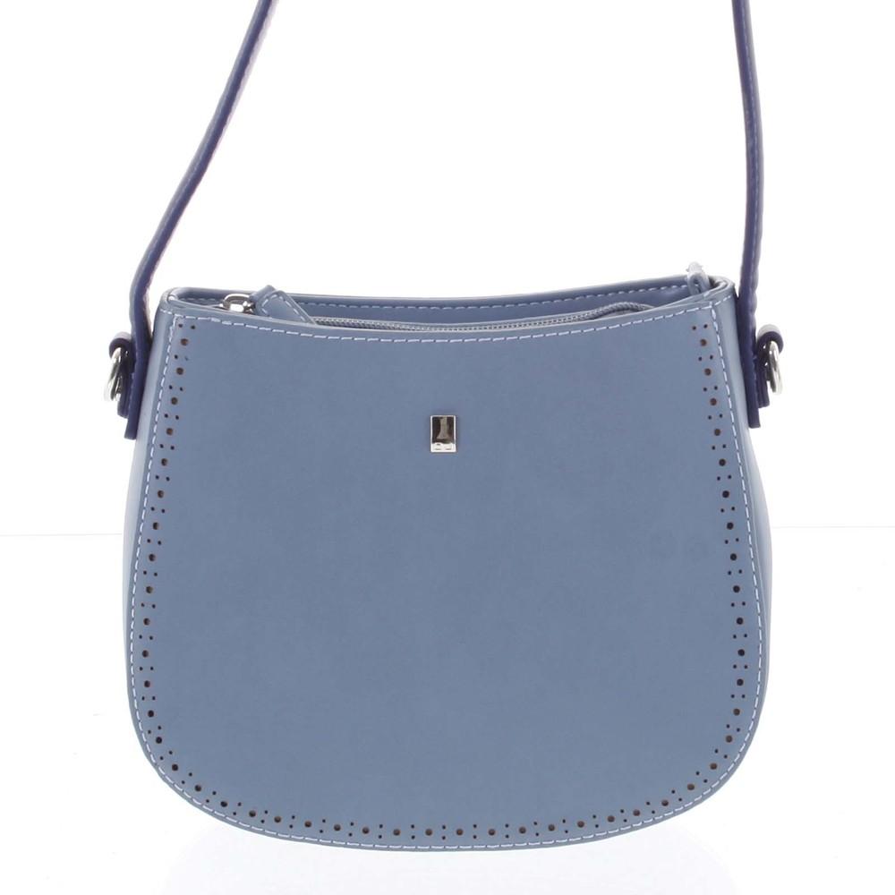 890abc244b ... Elegantná listová crossbody kabelka modrá - David Jones Brigitte ...