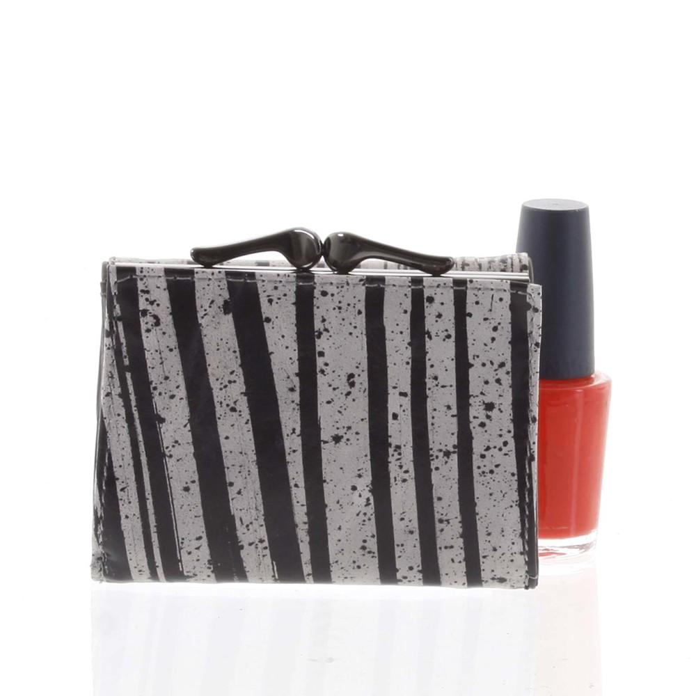035e51a875 Malá dámska peňaženka kožená čierno-sivá - Rovicky 55287 - Kabea.cz