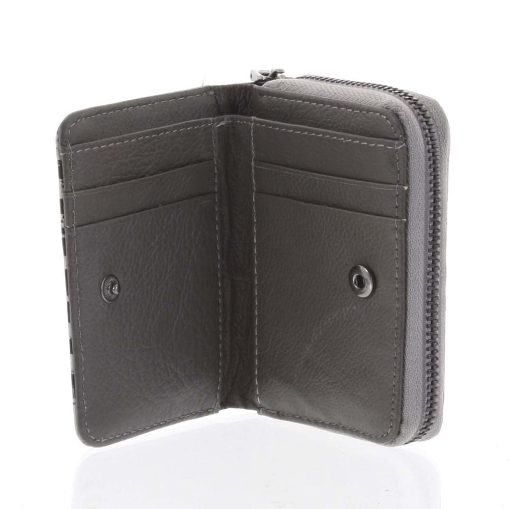24a544de6d Malá dámska peňaženka kožená čierno-sivá - Rovicky 5157 - Kabea.cz