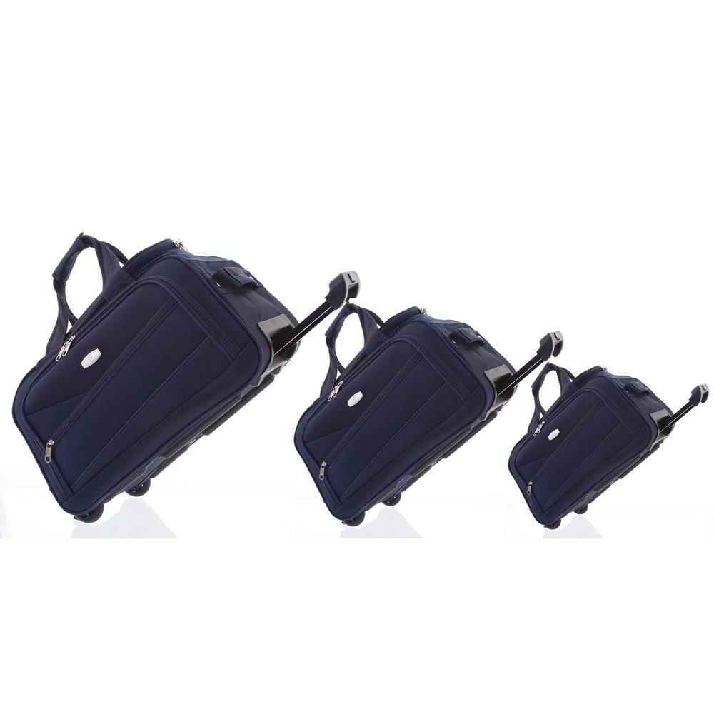 9f93d4e442 Tmavomodrá cestovná taška na kolieskach sada - Lumi Sakk L