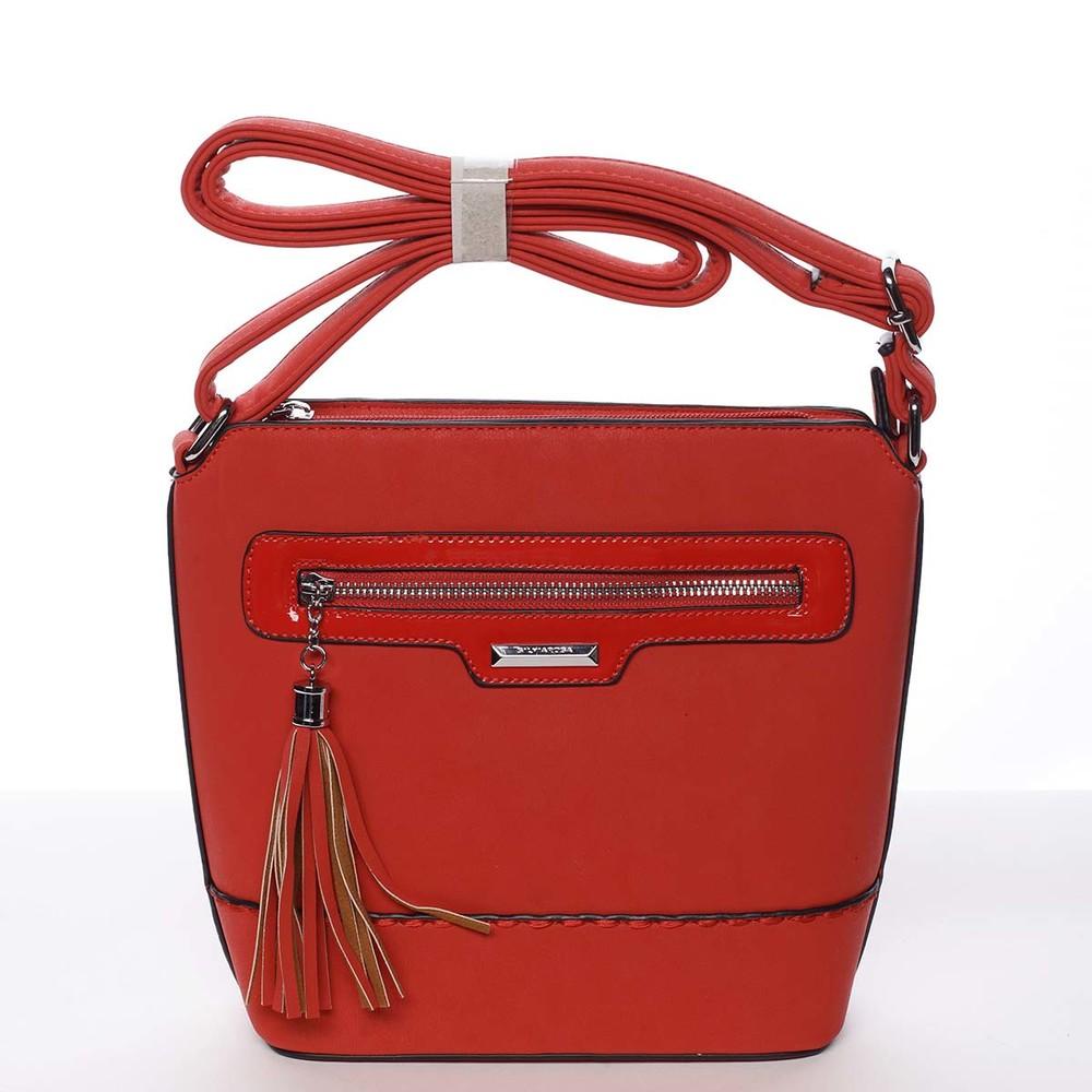 06d252dbf43a Elegantná dámska červená crossbody kabelka - Silvia Rosa Meylin ...