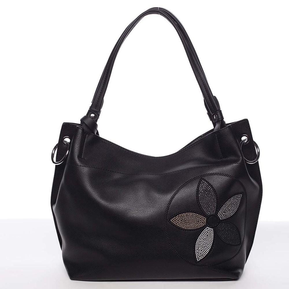 5a615607e8 Elegantná dámska kabelka cez rameno čierna - Maria C Quyne - Kabea.cz