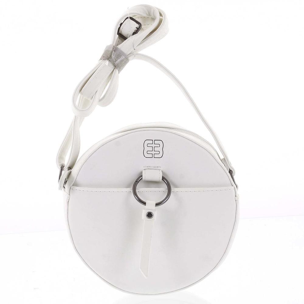 486605530f Guľatá moderná dámska crossbody kabelka biela - Enrico Benetti Behesha ...