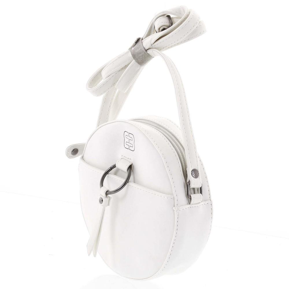 f7c2121b2c ... Guľatá moderná dámska crossbody kabelka biela - Enrico Benetti Behesha  ...
