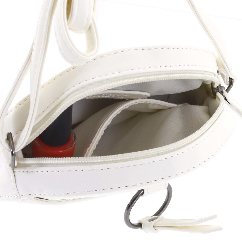 67b4217a4a ... Guľatá moderná dámska crossbody kabelka biela - Enrico Benetti Behesha