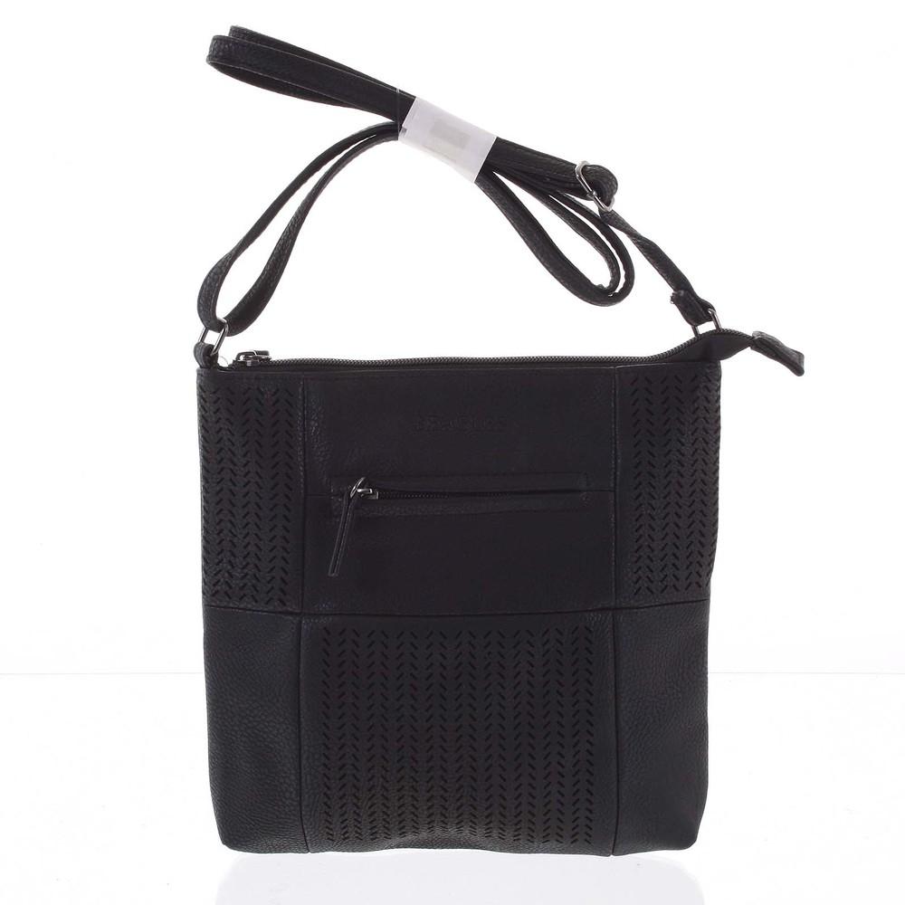 b6da3b060 Malá elegantná perforovaná crossbody kabelka čierna - Beagles Soraya ...