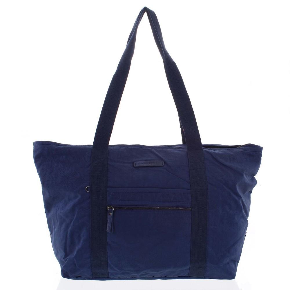 c2aa368e99 Veľká dámska cestovná taška cez rameno tmavo modrá - Enrico Benetti Mariam  ...