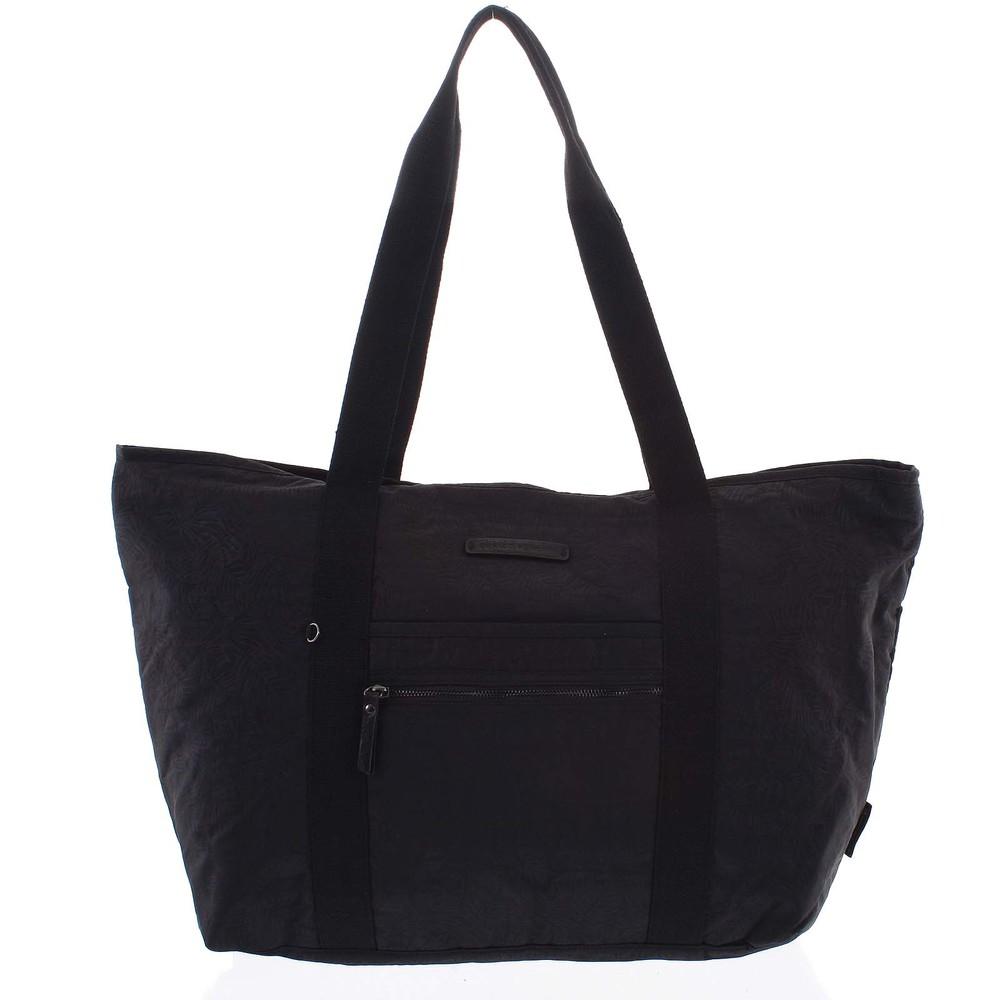 5b565263fd89c Veľká dámska cestovná taška cez rameno čierna - Enrico Benetti Mariam ...