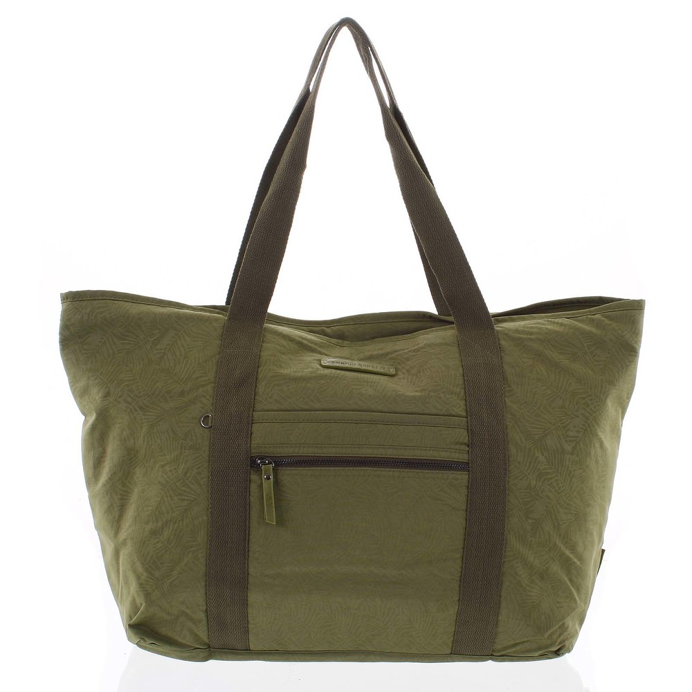 8df87e2c390db Veľká dámska cestovná taška cez rameno zelená - Enrico Benetti Mariam ...