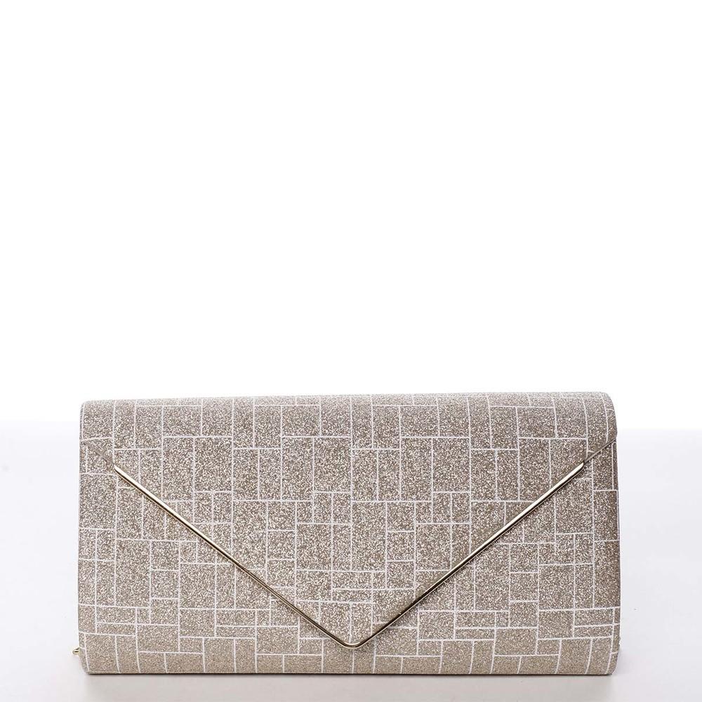 8329f1a777 Elegantná dámska listová kabelka zlatá - Michelle Moon HightWay ...