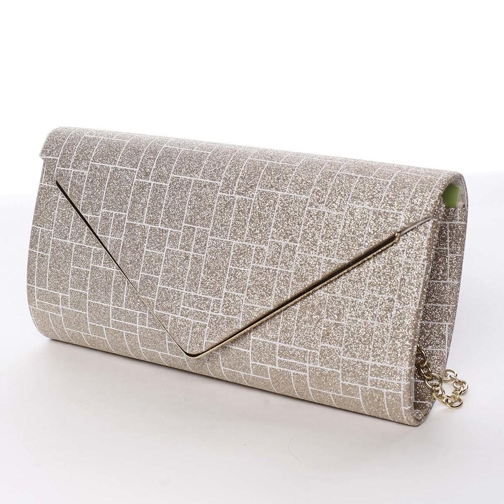 b319bd8231 ... Elegantná dámska listová kabelka zlatá - Michelle Moon HightWay ...