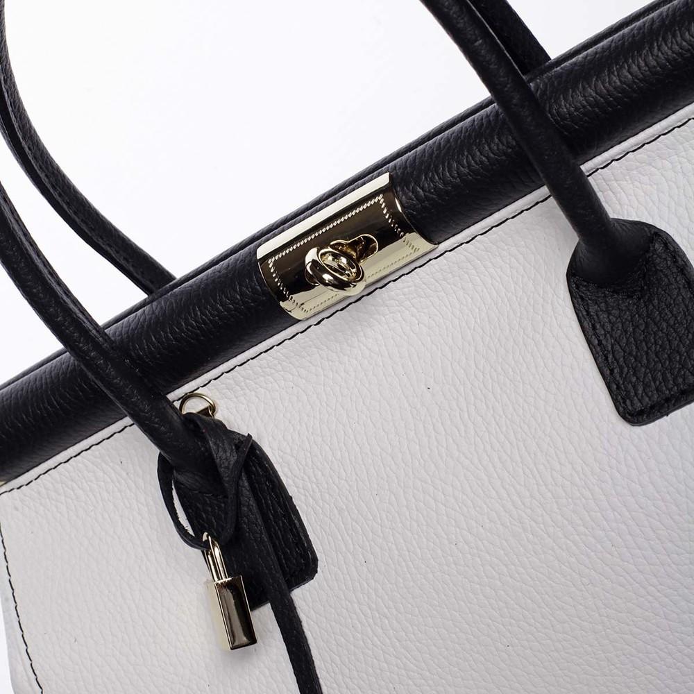 c831380f19 ... Originálna módna dámska kožená kabelka do ruky biela - ItalY Hila ...