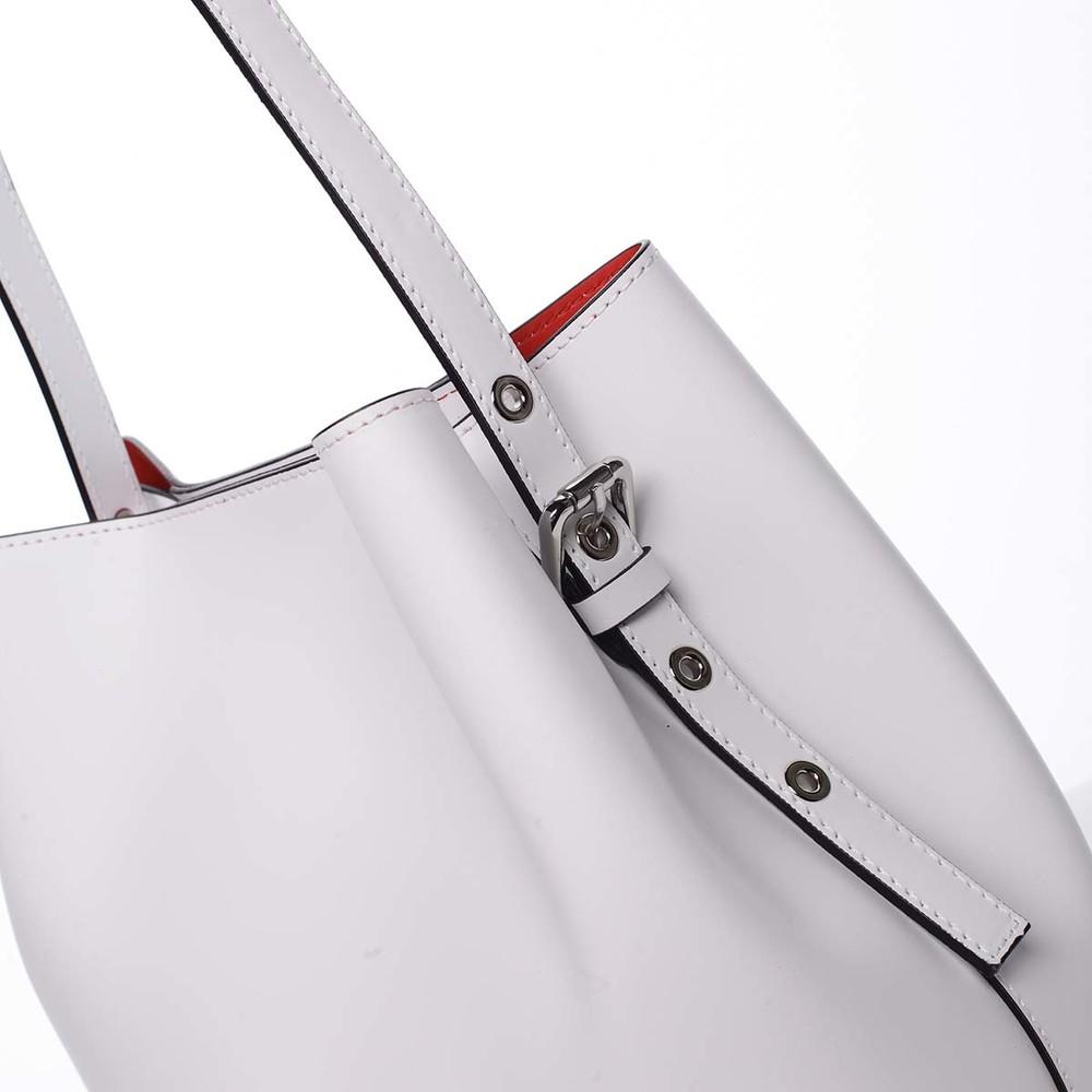 0fb328db8de26 Dámska luxusná kožená kabelka biela - ItalY Hania - Kabea.cz