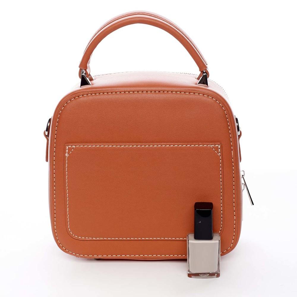 879821407b ... Luxusná malá dámska kabelka do ruky oranžová - David Jones Stela ...