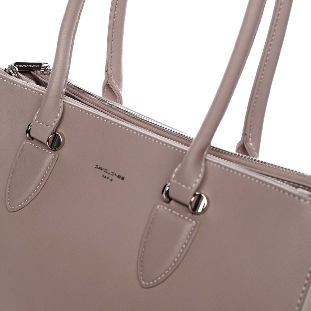 62b2d3afbf ... Veľká elegantná dámska kabelka cez plece ružová - David Jones Adele ...