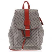 6932254b8dee5 Luxusný stredný dámsky batoh hnedo červený - Silvia Rosa Kevin