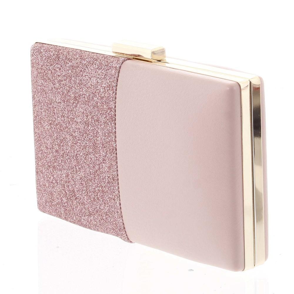 b175029ef2 ... Luxusná ružová listová kabelka s kovovou sponou - Michelle Moon  Darkside ...