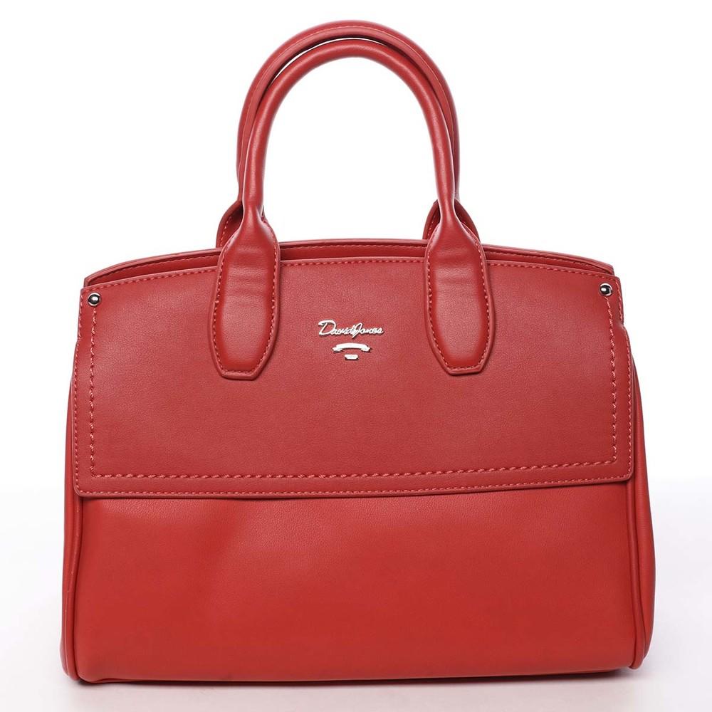8ae9456ed7 Dámska kabelka do ruky červená - David Jones Alens - Kabea.cz