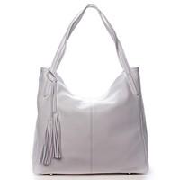 c4b16a4f07 Veľká dámska kožená kabelka biela - ItalY Janeth