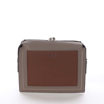 Dámska crossbody kabelka taupe - David Jones Brite